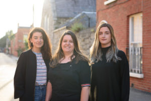 Claire Byrne, Emma Wall, and Jo Halpin of Alfonso Films.